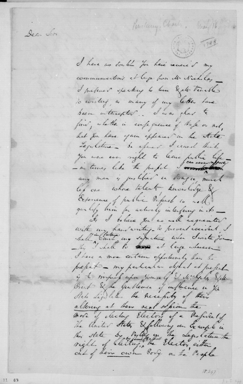 Charles Pinckney To James Madison May 16