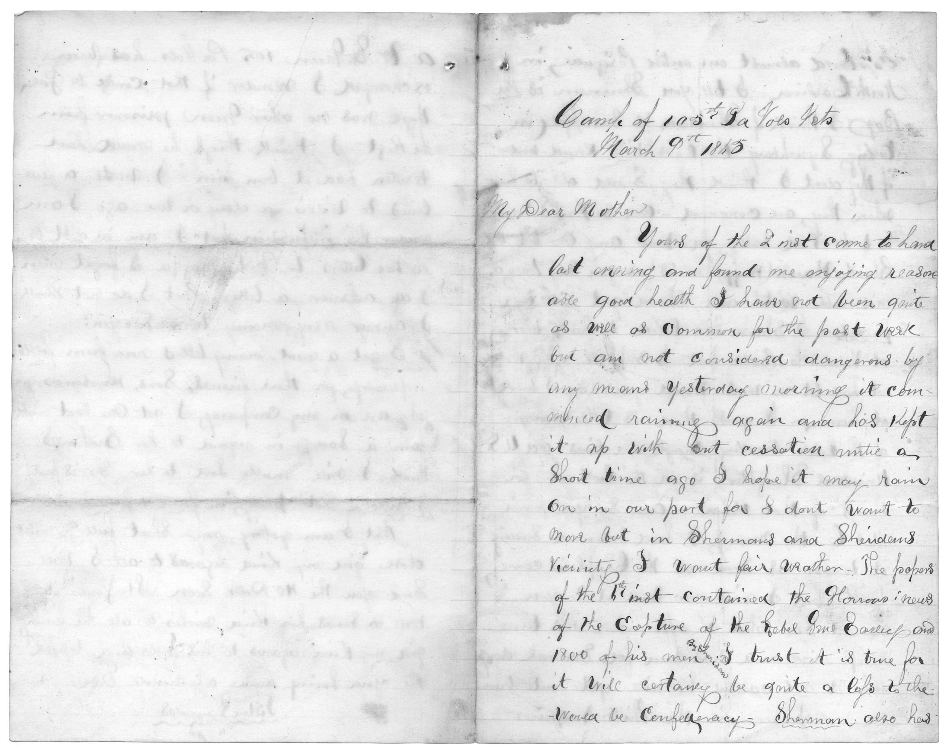 Letter From Tilton C Reynolds To Juliana Smith Reynolds