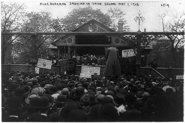 Alexander Berkman speaking in Union Square