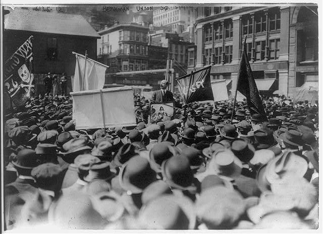 [Anarchist Alexander Berkman speaking in Union Square, NYC May 1, 1914]