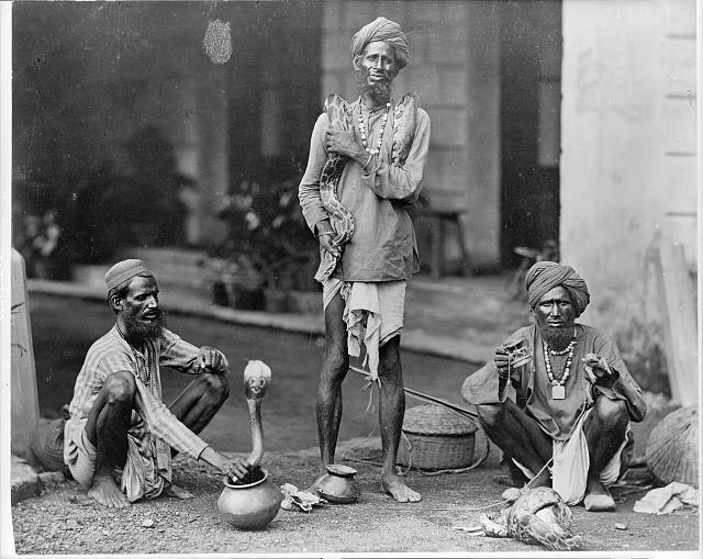 [Snake charmers. India. 189-?]