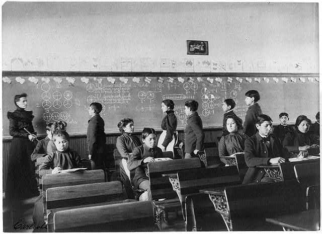 Native Americans During Mathematics Class