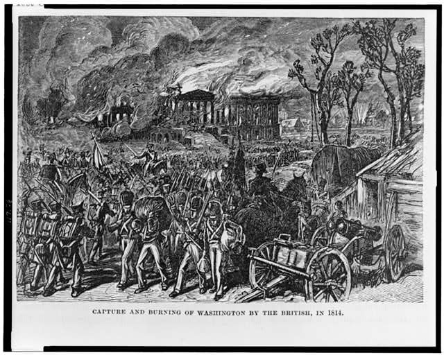 Capture and burning of Washington by the British, in 1814