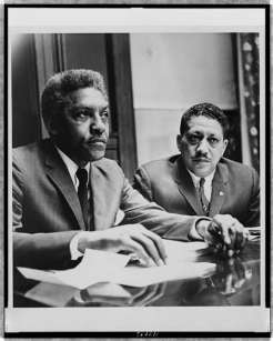 Bayard Rustin and Dr. Eugene Reed at Freedom House (Click To Enlarge)