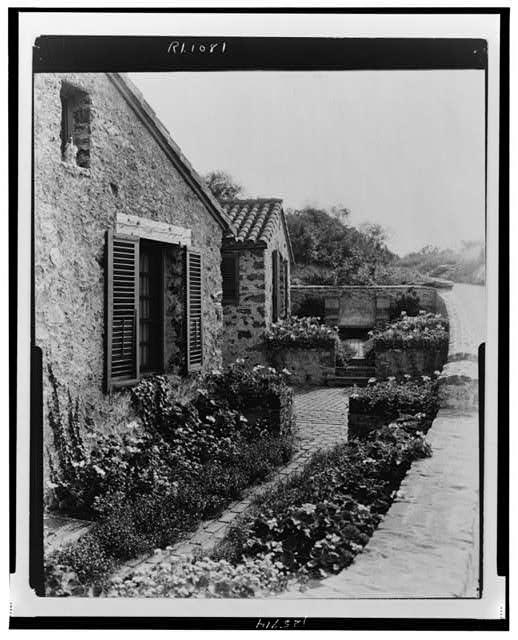 "[""Surprise Valley Farm,"" Arthur Curtiss James property, Beacon Hill Road, Newport, Rhode Island. Farmer cottages]"