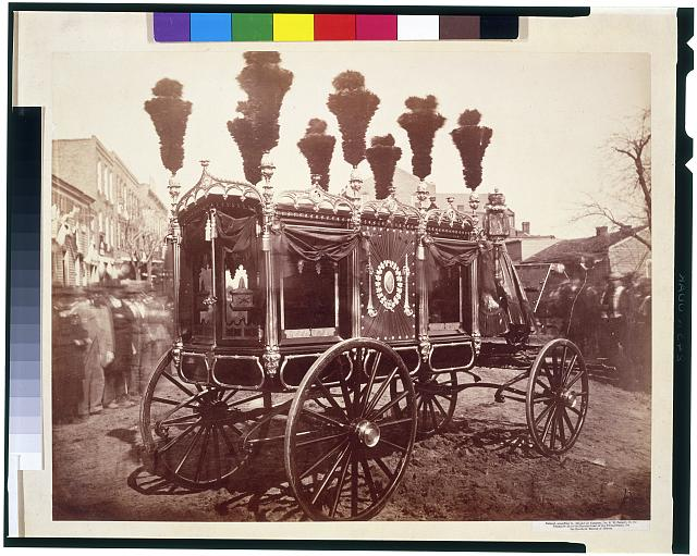 [President Abraham Lincoln's hearse, Springfield]