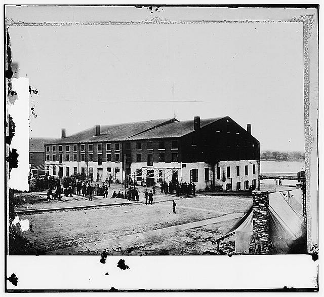 Richmond, Virginia. Libby Prison, North side, Apr. 1865. (Library of Congress)