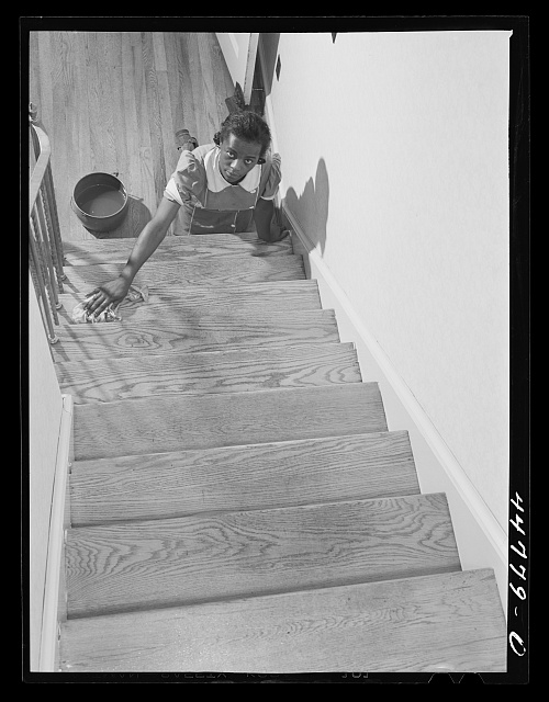 Washington, D.C. Negro maid in the home of a government worker
