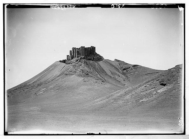 Palmyra. The Turkish castle. Kala'at Ibn Na'an
