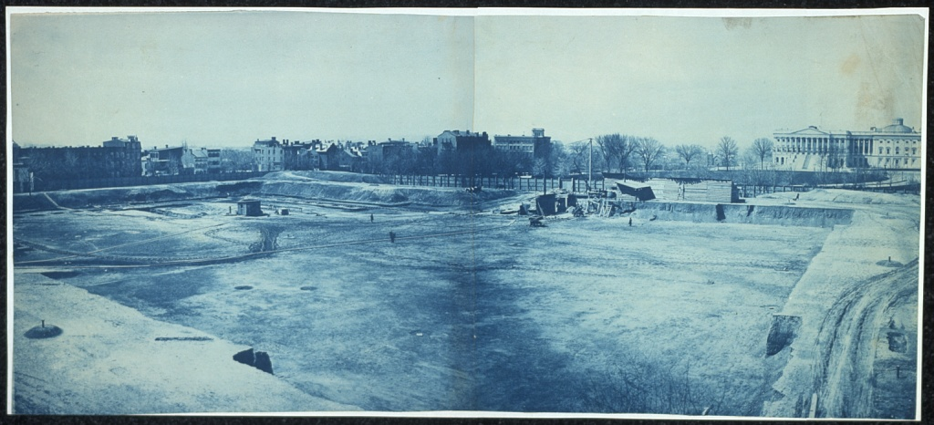 Excavation of site for the Library of Congress
