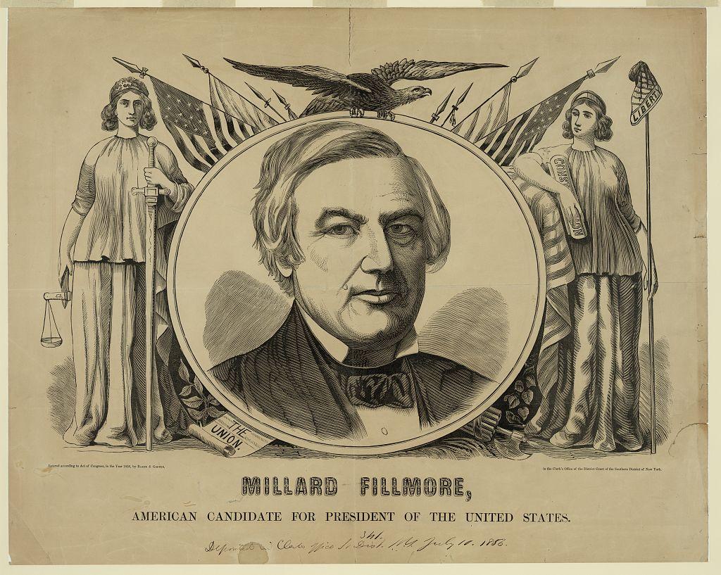 Millard Fillmore 1856 campaign poster - Library of Congress