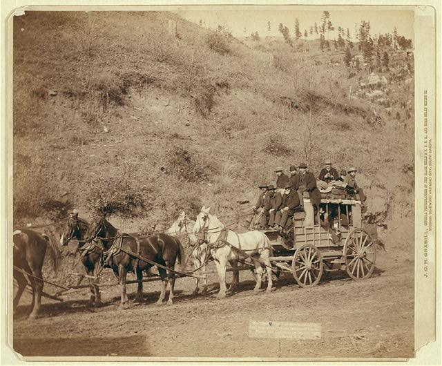 The Last Deadwood Coach. Last trip of the famous Deadwood Coach