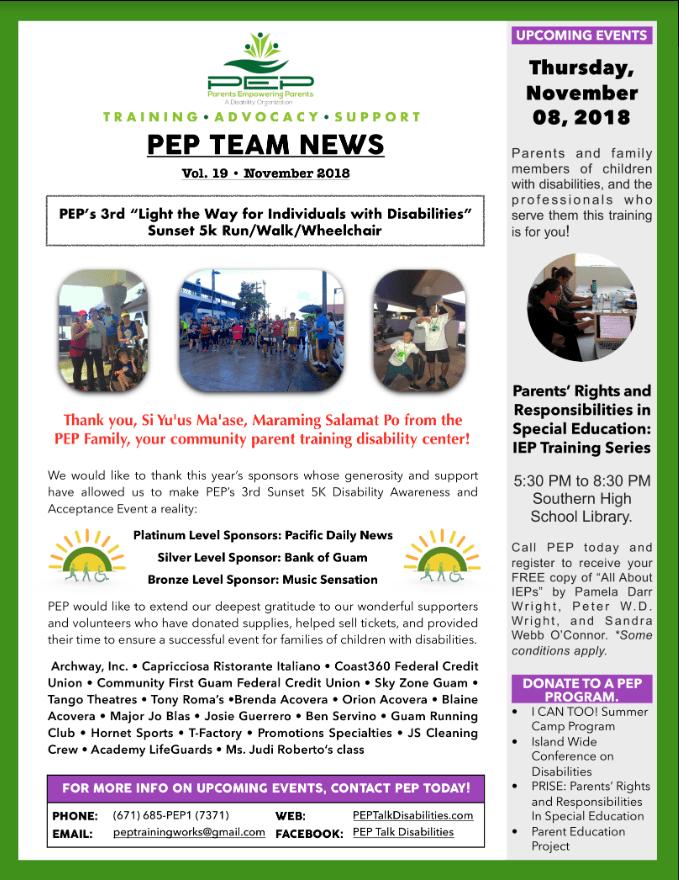 PEP Team News