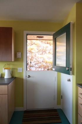 The dutch door.