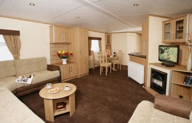 The seating area in the Delta Denbigh Deluxe