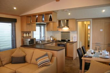 The living space in the Pemberton holiday home