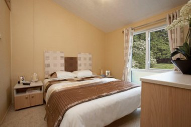 The master bedroom in the Boston holiday home