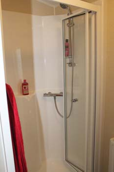 BK Bluebird Caprice -The shower room has a one piece fibreglass shower compartment