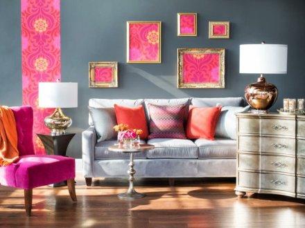 decoration-murale-salon-papier-peint-cadre-deco