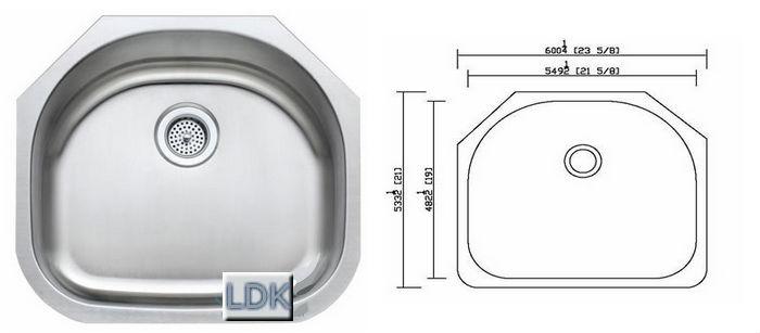Kitchen Sink Undermounted LDK 2321