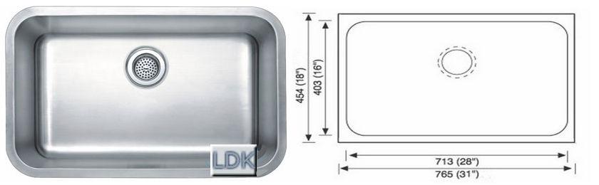 Kitchen Undermount Sink LDK 3018