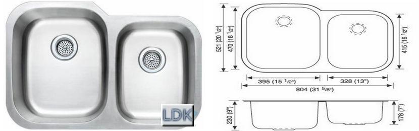 Stainless Steal Kitchen Sink LDK-6040