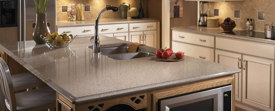 Silestone Countertop Center Island Finished With Ogee Edge