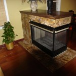 Marble Fireplace - Forest web Green