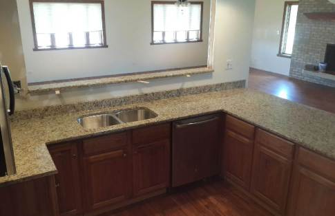 Kitchen countertops from New Venetian Gold Granite