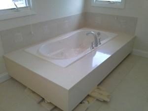 Tub Deck - White Quartz
