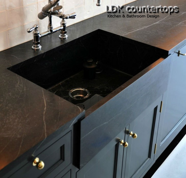 Kitchen countertops with farmer sink