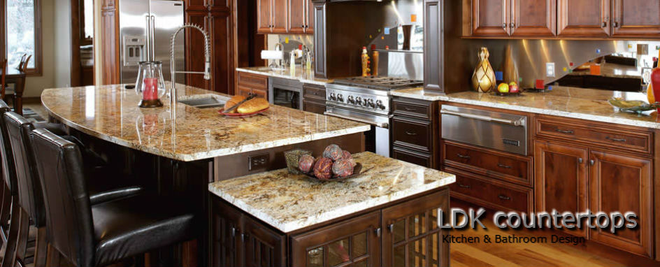 Barrington Granite Countertops - Kitchen with Centert Island