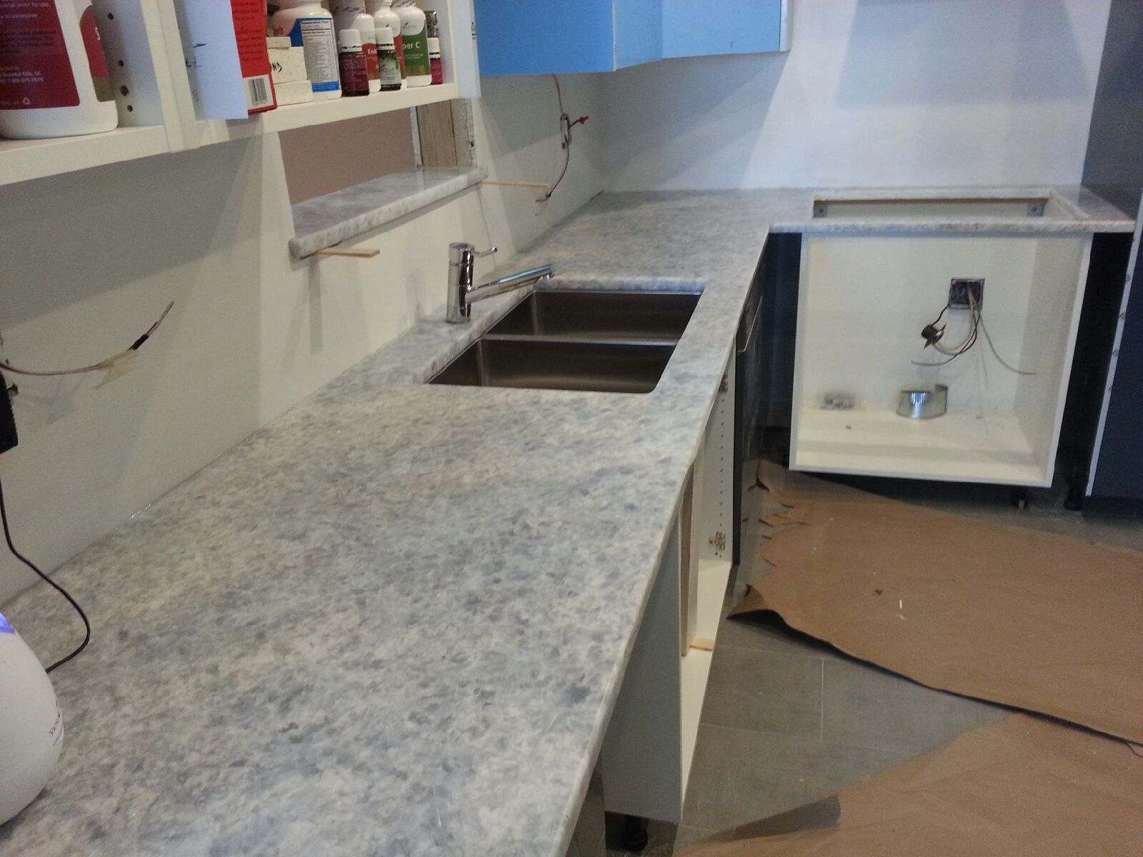 Naperville White Quartzite Kitchen Countertop Installation.