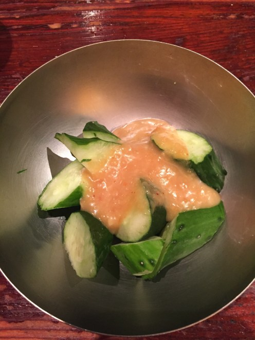 Simple but delicious: miso paste and cucumber