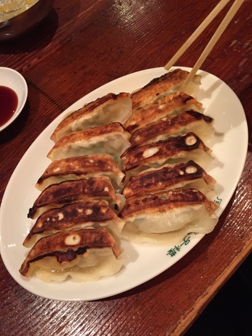 The most amazing gyoza: fried pork and leek