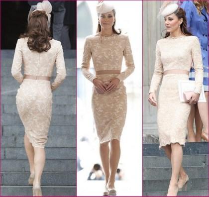 Kate Middleton Lace Alexander McQueen Dress Queens Diamond Jubilee