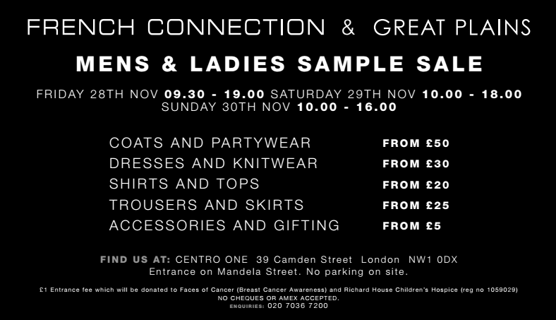 french connection sample sale 2014