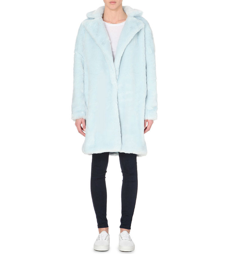 6 - Mini Cream Motif Faux Fur Coat £265