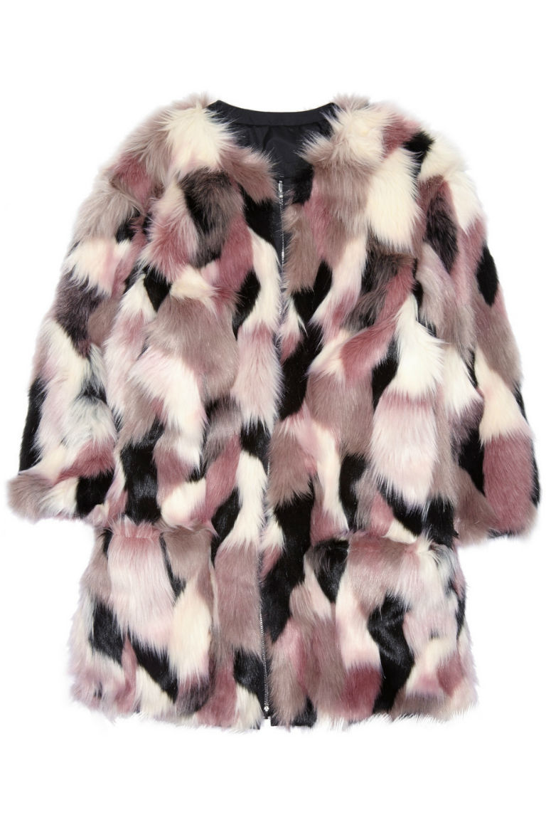 9 - Nina Ricci Reversible Patchwork Faux Fur Coat, £1,265