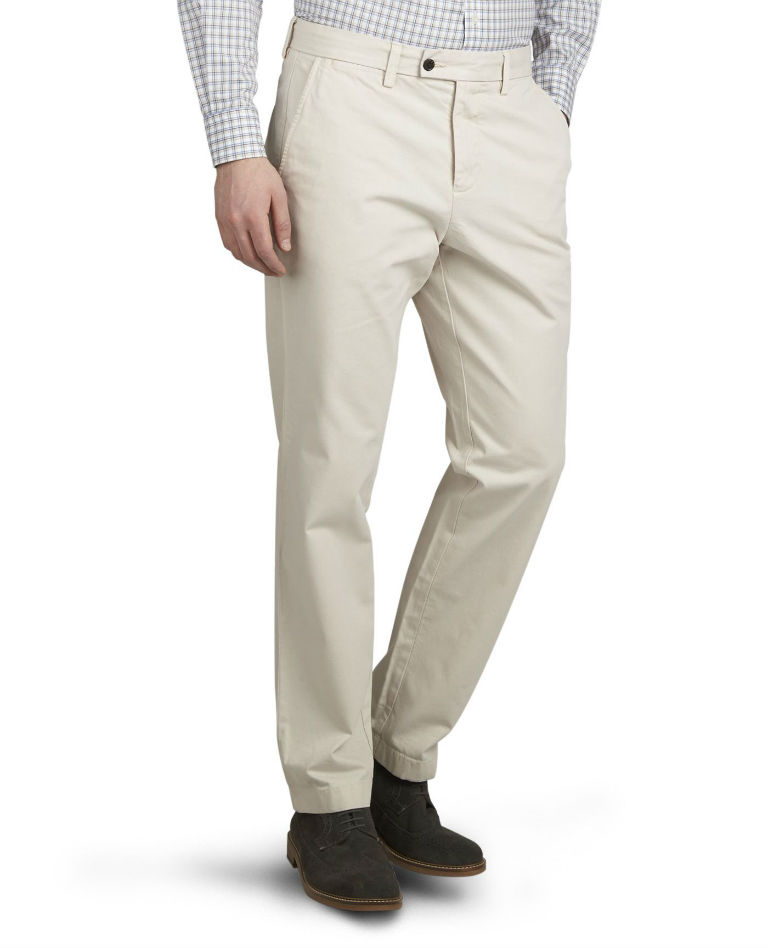 Byrne Beige Relaxed Fit Chinos