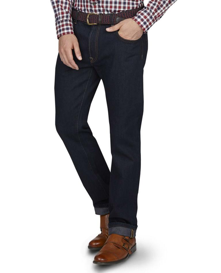 Indigo Straight Leg Jeans