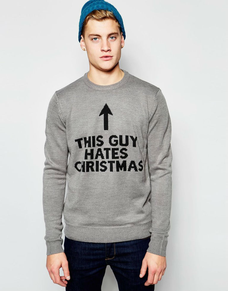 this guy hates christmas jumper