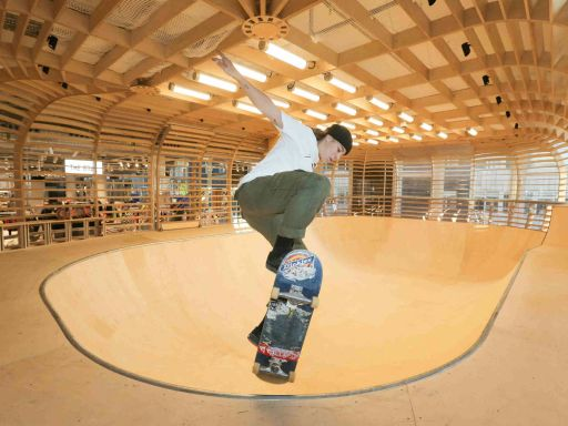 Selfridges opens UK's only free wooden indoor skate bowl