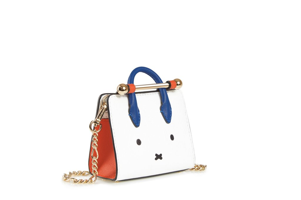 HE STRATHBERRY MINIATURE TOTE MIFFY FACE WHITE/MAPLE/COBALT