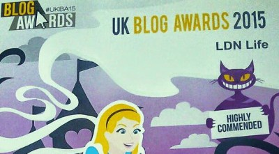 UK Blog Awards 2015 LDN Life Highly Commend