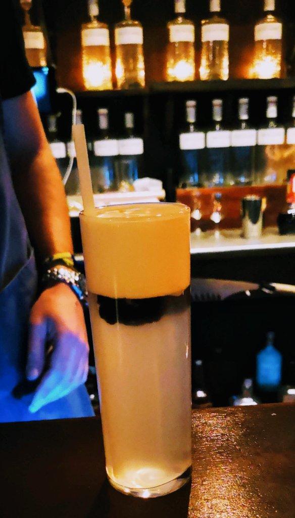 Meadowsweet gin cocktail