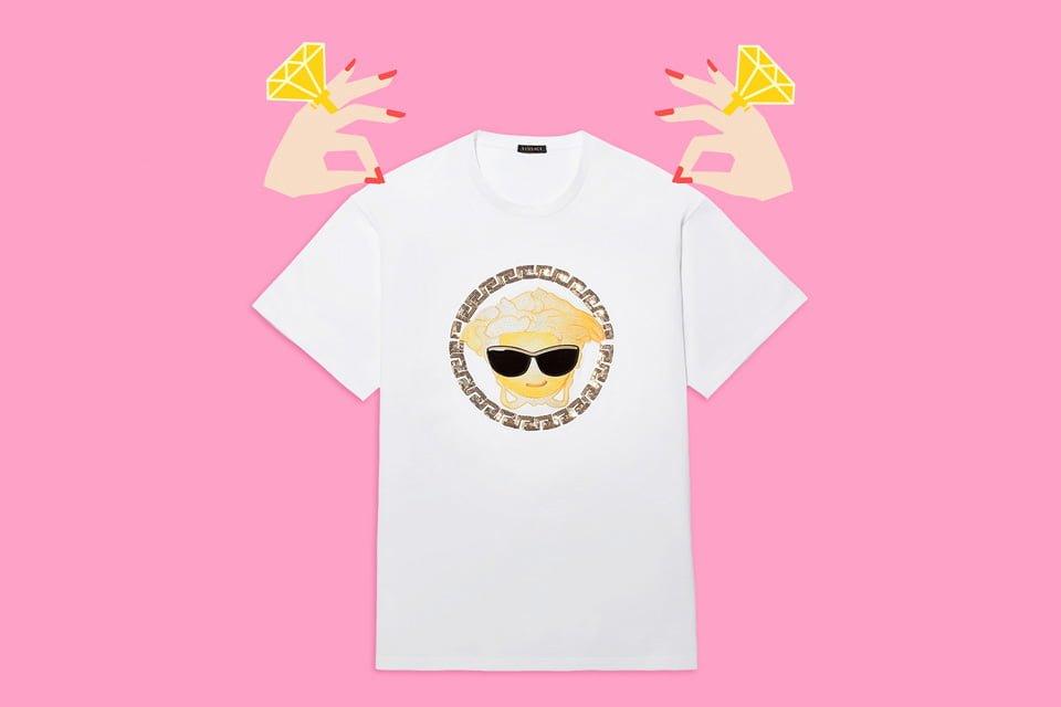 # Versace 推出情人節 emoji Tee:讓專屬表情替你示愛 3