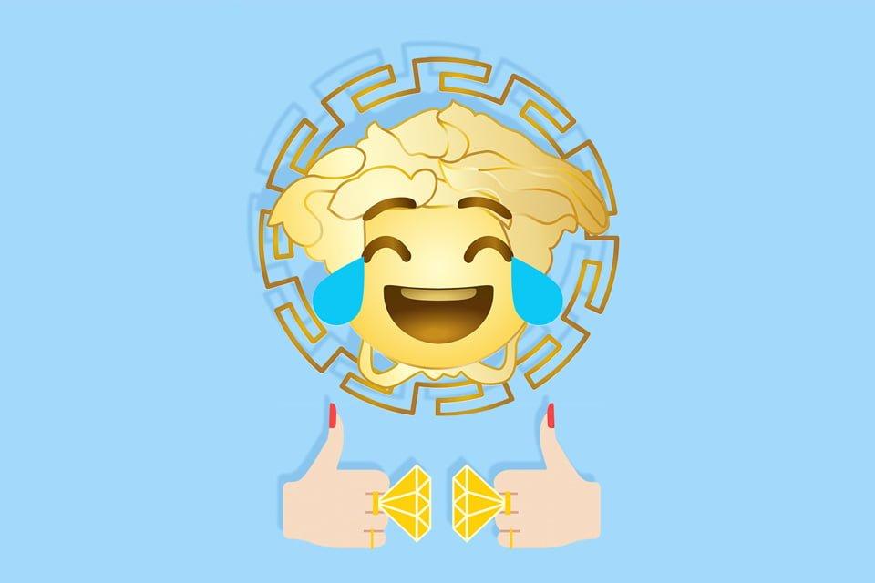 # Versace 推出情人節 emoji Tee:讓專屬表情替你示愛 1