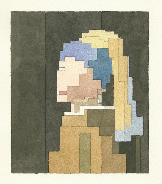 # 這些水彩畫作要瞇著眼睛看: Adam Lister 汲取藝術作及流行文化的8位元水彩作品 6
