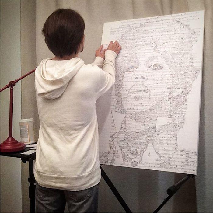 # 不只是用來作曲的音符:Hayato Takano用音符拼貼出音樂家肖像 1